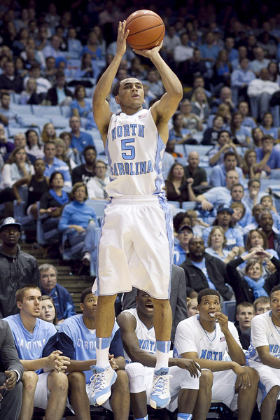 North Carolina's Marcus Paige Was On Fire - Making 5 Threes Versus Pittsburgh. (Photo: Robert Willett/ Raleigh News & Observer)