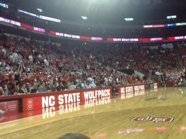 N.C. State Fans Were Primed For a Court Rush Before Marcus Paige Denied Them The Chance. (Brad Jenkins/RTC)