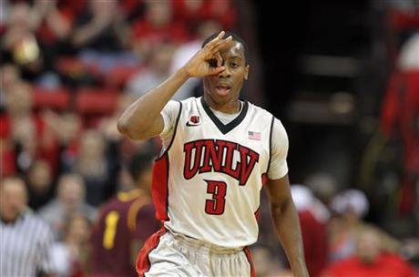 Kevin Olekaibe's Scoring Helped Push The Rebels To A Win At Utah State (Isaac Brekken, AP Photo)