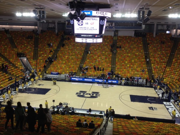 Saturday Didn't Showcase The Dee Glen Smith Spectrum In It's Brightest Light, But Utah State's Home Floor Is Truly One Of A Kind