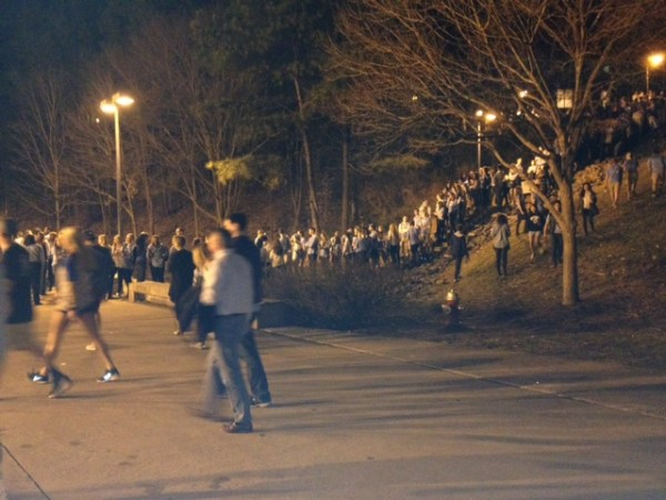 UNC Students Line Up For Duke Game Two Hours Before Tip