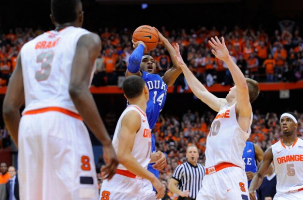 Rasheed Sulaimon rises up to send it to OT versus unbeaten Syracuse (Footbasket.com)