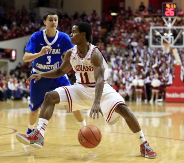 Yogi Ferrell has to run the show and score frequently for Indiana to improve this season. (Darron Cummings, AP)