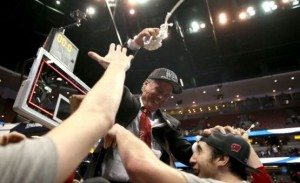 Celebrate Bo Ryan - you are finally going to the Final Four. (Getty)