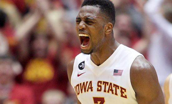 Melvin Ejim was fired up in more ways than one after setting a new Big 12 single-game scoring mark. (Justin Hayworth/AP)