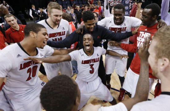 Louisville dominated UConn on Saturday. (AP Photo/Mark Humphrey)