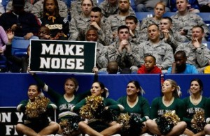 Cal Poly supports had plenty to cheer about Wednesday night as the program earned its first ever NCAA Tournament victory. (Gregory Shamus/Getty Images)