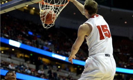 A Wisconsin player scoring at the rim was a familiar sight Thursday night. (Harry How/Getty Images)