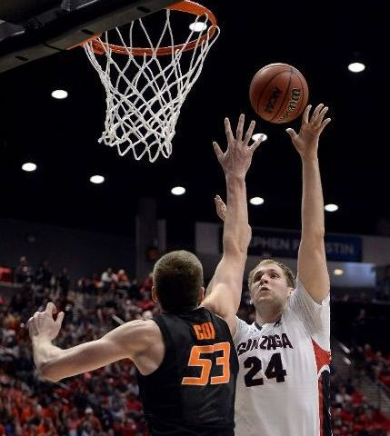 Przemek Karnowski's Ability To Score Inside Gave Gonzaga A Presence Oklahoma State Couldn't Match (Donald Miralle/Getty Images)
