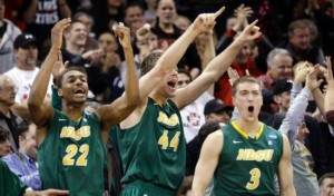 Celebrate North Dakota, your team is headed for the Round of 32. (AP Photo/Elaine Thompson)