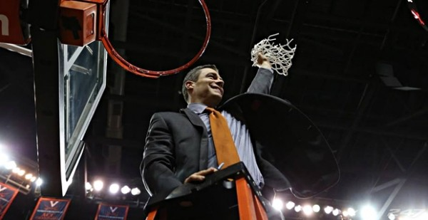 Tony Bennett Celebrates Virginia's ACC Regular Season Title. (Photo: VirginiaSports.com)