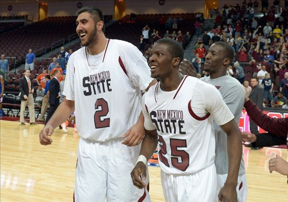 New Mexico State might be able to knock off the Aztecs if things go right. (Kirby Lee-USA TODAY Sports)