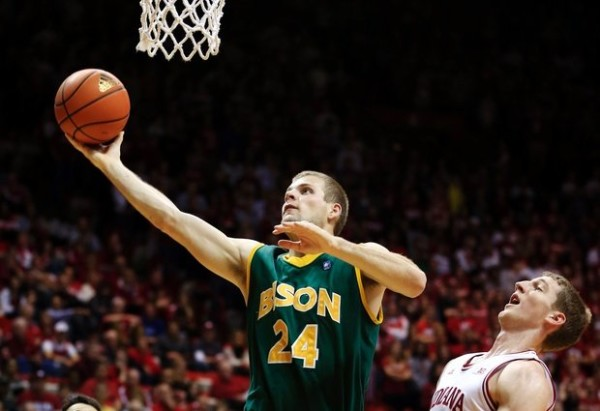 Taylor Braun and the Bison paced the Summit League this year. (Associated Press)