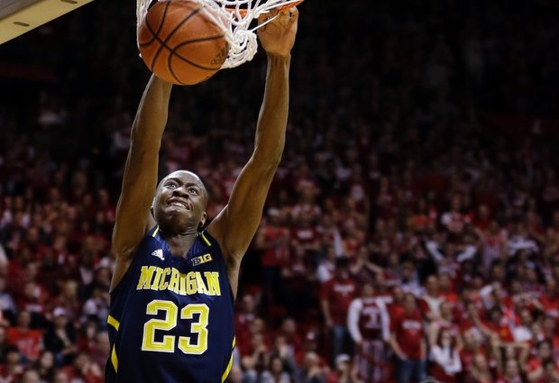 The improvement in the play of Caris LeVert through the course of the season has helped Michigan rise to the top of the Big Ten standings. (AP)