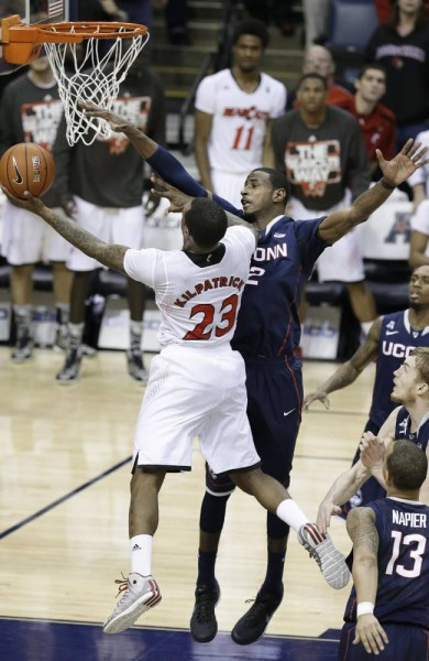 AP Photo/Mark Humphrey Sean Kilpatrick came tantalizingly close to hitting this shot, but it fell off the rim and UConn advanced to the AAC title game.