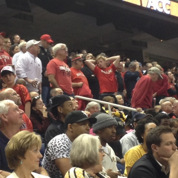 Maryland Fans React to Loss in Final ACC Tournament for the Terrapins. (Photo: Brad Jenkins/RTC)