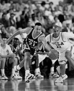 Shea Seals, Here Stealing The Ball From Charles O'Bannon, Helped Tulsa To A First-Round Win Over UCLA in 1994