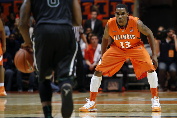 Tracy Abrams' ability to get steals will go a long way toward determining if Illinois can beat Indiana on Thursday. (Stephen Haas, Lee News Service)