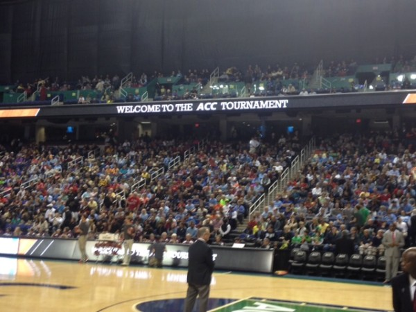 The Upper Level Of The Greensboro Coliseum Was Curtained Out On Wednesday. (Photo: Brad Jenkins/RTC)