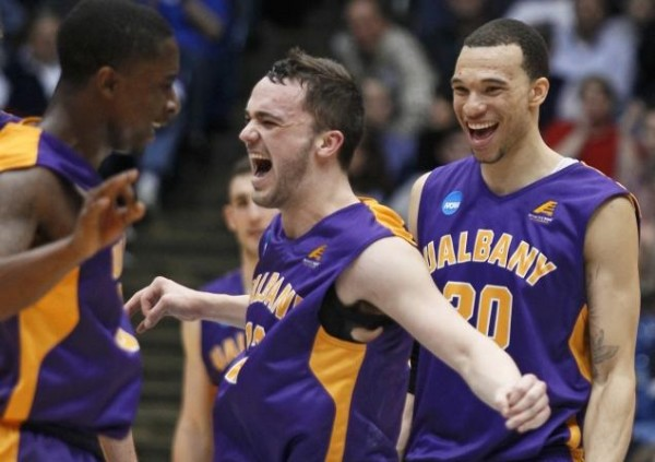 Albany is All Smiles as the Danes Advance to the Round of 64 (AP/Skip Peterson)