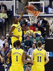 Caris LeVert, Glenn Robinson and Nik Stauskas will force the Kentucky defense to step up on Sunday.