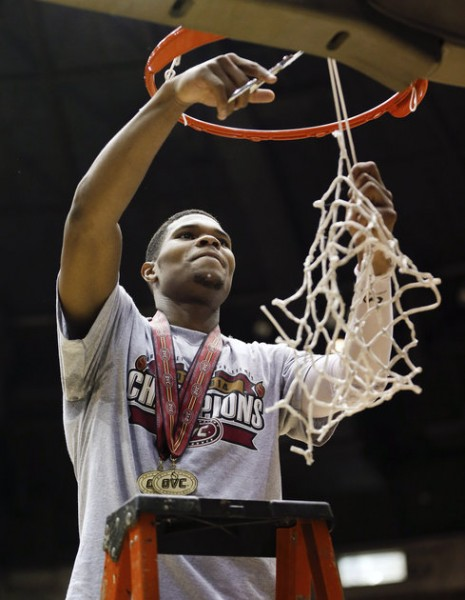 Corey Walden, the OVC Tourney MVP, Cuts the Nets (AP)