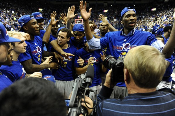 The Big 12 is trending towards history, and we're not talking about Kansas' vice grip on the crown. (John Rieger/USA Today Sports)