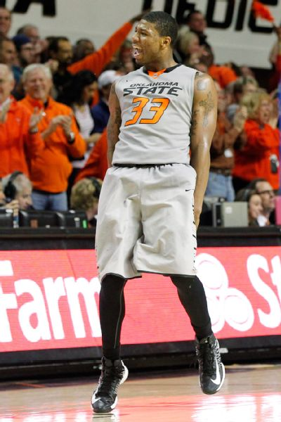 Will Marcus Smart and Oklahoma State have another win to celebrate tonight? (USA Today)