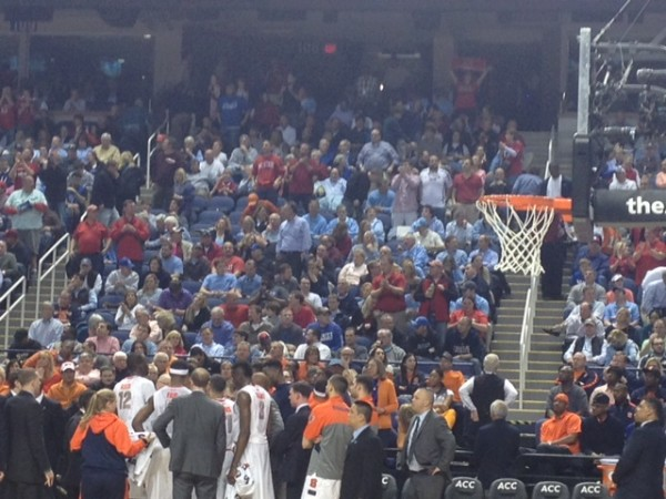 Some Red Showed up in the North Carolina Section for the N.C. State - Syracuse Game. (Brad Jenkins/RTC)