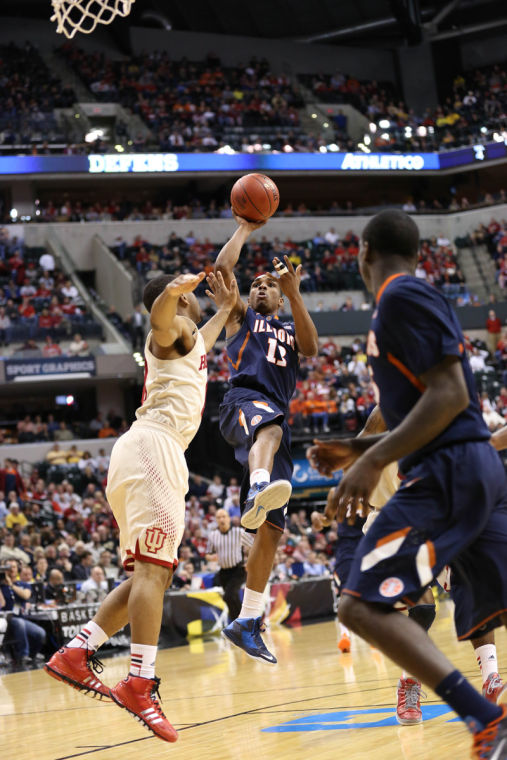 Tracy Abrams played with a renewed confidence in Illinois' first-round win over Indiana.  (B.Tse)