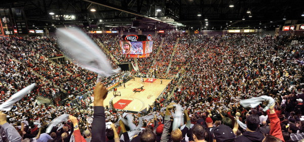 Viejas Arena Will Be Hopping On Saturday Night As The Regular Season Conference Champion Is Decided (San Diego State University)