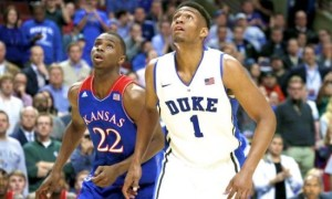 Star Freshmen Jabari Parker And Andrew Wiggins Matched Up In What Was A Memorable Champions Classic Battle. (Getty)