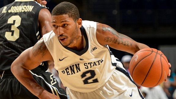 DJ Newbill scored 31 points and hit a buzzer-beating three to give Penn State a win at Minnesota. (GoPSUsports.com)