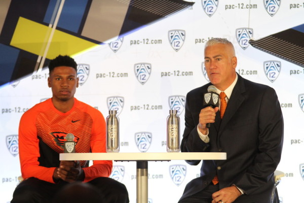With All Apologies To Junior Langston Morris-Walker, New Head Coach Wayne Tinkle Is Greeted With A Very Empty Cupboard In Corvallis (credit: Pac-12 Conference)