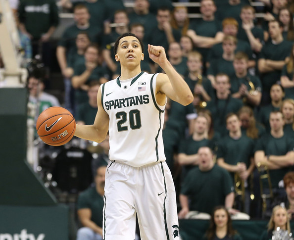 Travis Trice has to play a bigger role for Michigan State to make another run at the B1G title.(Leon Haiip, Getty Images)