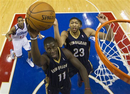 Jrue Holiday and Anthony Davis Give Pelican Fans Reason For Excitement, But They're In A Crowded West (Chris Szagola/Associated Press)