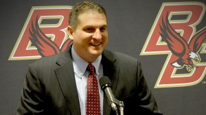 Jim Christian is tasked with leading Boston College back to relevance (photo credit: Ted Fitzgerald/Boston Herald)