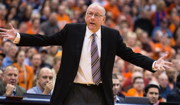 Even the great Jim Boeheim isn't immune to the curious upset from time-to-time. (Getty)