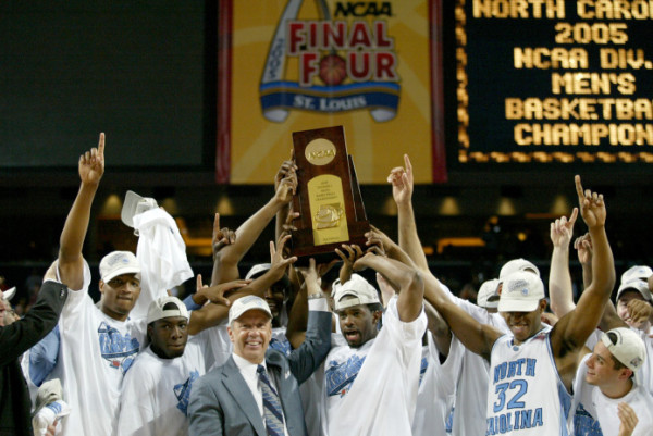 "Were these 2005 NCAA Champs ""Student-Athletes"" or merely Athletes. (Getty Images)"