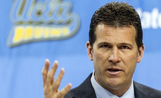 Steve Alford Was More Than Pleased With His UCLA Backcourt In Friday Night's Opener. (UCLA Athletics)
