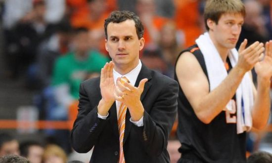 Harvard's biggest challenger might very well be Mitch Henderson's Princeton squad. (Getty)