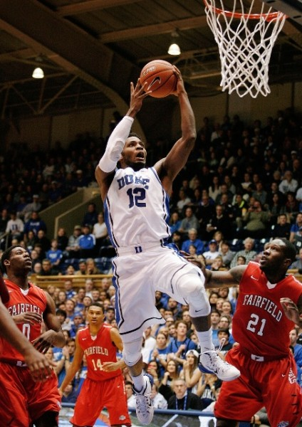 Freshman Justise Winslow Has Been Aggressively Attacking the Basket in Duke's Early Games. (Mark Dolejs - USA Today Sports)