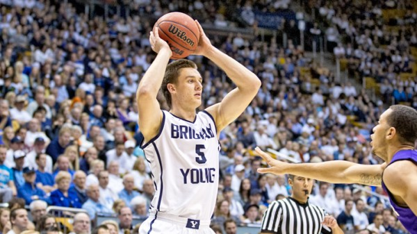 A healthy Kyle Collinsworth is good news for BYU. (Photo by Jaren Wilkey/BYU Photo)