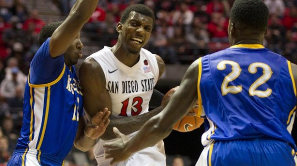 San Diego State's Winston Shepard vs. Utah's Delon Wright will be a delectable matchup. (Sean M. Haffey)