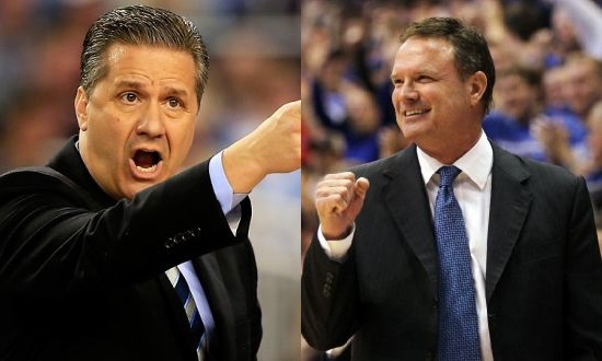 In a battle of coaching titans, John Calipari and Bill Self enter tonight's contest looking to one-up each other once again. (AP)