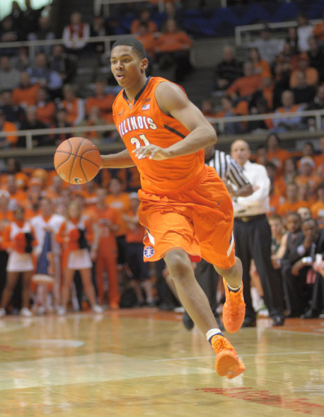 Malcolm Hill has shined in an expanded role for Illinois this season.(Mark Jones, Illinois Athletics)