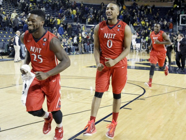 NJIT pulled the stunner of the season in Ann Arbor on Saturday. (Duane Burleson | Getty Images)