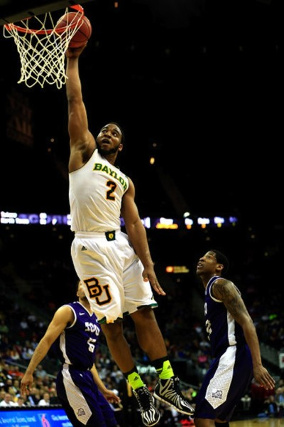 Rico Gathers leads a Baylor rotation that dominates the glass.