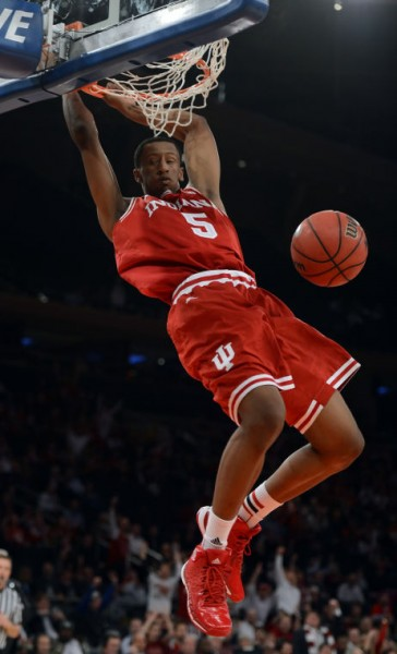 Troy Williams notched a double-double as Indiana held off Ohio State Saturday in Bloomington.  (Chris Howell/Herald Times)