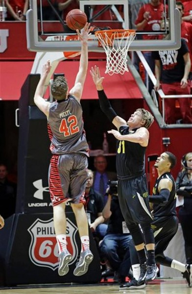 Freshman Seven-Footer Jakob Poeltl Helped Lead The Utes To An Exciting Win (Rick Bowmer, AP)